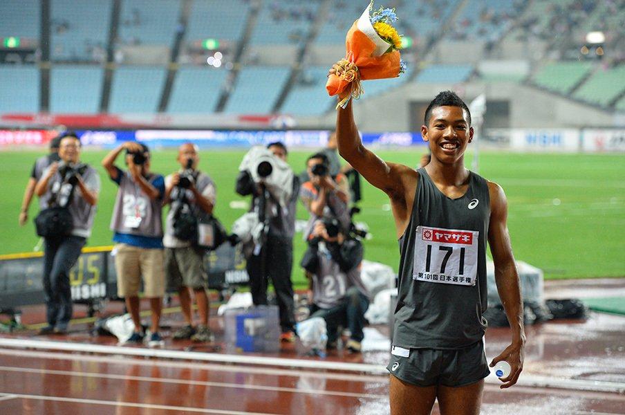 18歳サニブラウンの持つコメント力。世界選手権で今度は何をしゃべる?<Number Web> photograph by Takashi Shimizu