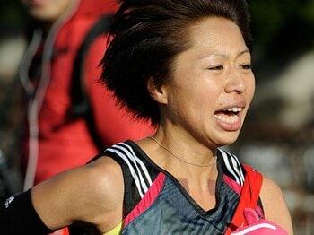陸上人生のハイライトをロンドンで!攻めの走りに見る福士加代子の矜持。<Number Web> photograph by Asami Enomoto