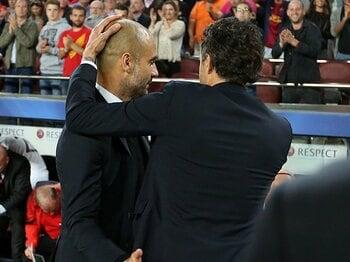 グアルディオラはCLを諦めたのか。メッシに屈した試合後の微笑と言葉。<Number Web> photograph by FC Barcelona via Getty Images