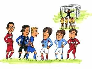 現役日本人サッカー選手、FKの名手No.1は誰だ!