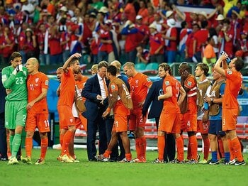 延長戦やPK戦で控えの選手も一体となって挑む姿勢が目立ったオランダは、見事3位に。