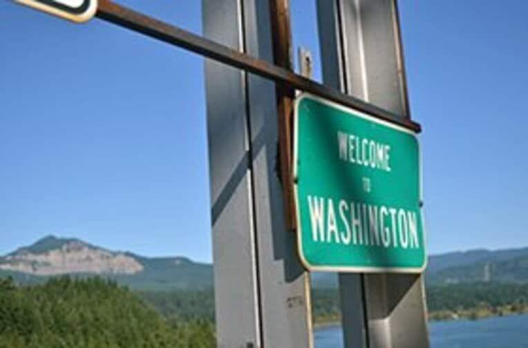ついにカナダ国境と接するワシントン州に入った。 / photograph by