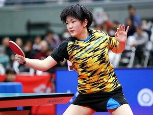 14歳・木原美悠の潜在能力がすごい。卓球特有の「促進ルール」にも即応。