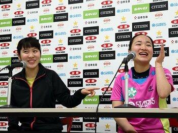 卓球女子、10代の躍進。~日本選手権でベスト8中6人が10代!~<Number Web> photograph by AFLO