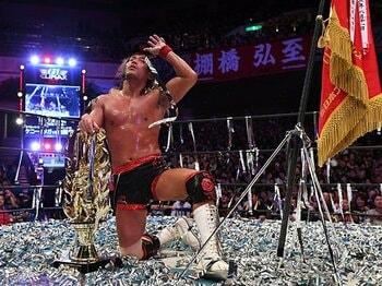 内藤哲也また1年遅れのG1制覇。その現象は東京ドームでの大合唱へ。<Number Web> photograph by Essei Hara