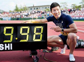 スプリンターはロードレースを走る。~桐生祥秀の9.98は、100m走の興味をタイムから勝敗に移すか~<Number Web> photograph by KYODO