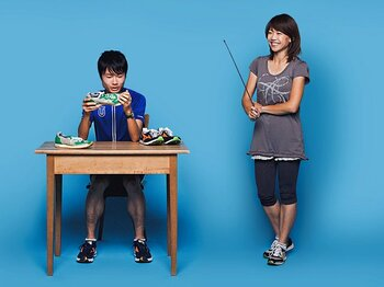 <Qちゃんが山の神に個人指導> 高橋尚子×柏原竜二 「マラソンを走るヒント、教えます」<Number Web> photograph by Kosuke Mae