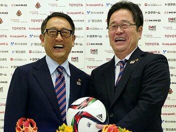グランパスのトップはトヨタの社長。豊田章男新会長、就任の「裏側」。<Number Web> photograph by Kyodo News