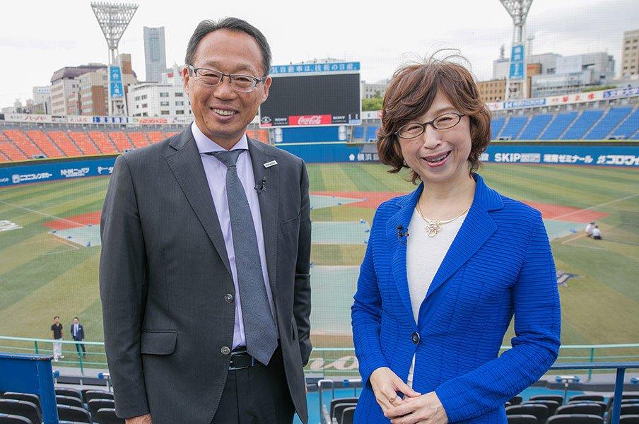 岡田武史と南場智子が語るスタジアムという場所の特権性とは。<Number Web> photograph by Ishizu Daisuke