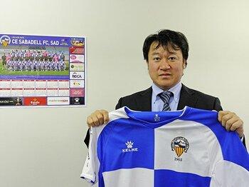 スペインリーグ初の日本人オーナー、坂本圭介が夢見る「和製欧州クラブ」。<Number Web> photograph by Shinya Kizaki
