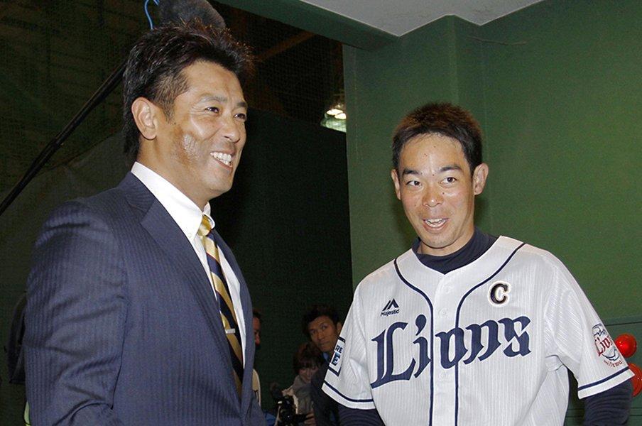 辻監督に指名されて「はぁ……」も、秋山翔吾は自分なりの主将像を築く。<Number Web> photograph by Kyodo News