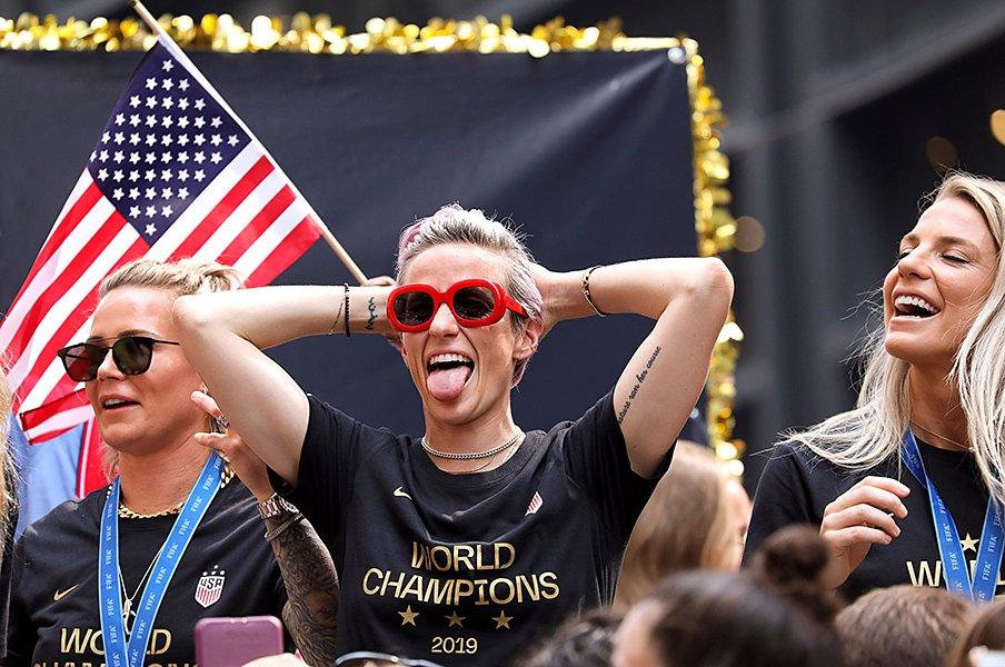 いま世界で一番かっこいい女性。女子W杯連覇、ミーガン・ラピーノー。<Number Web> photograph by Getty Images