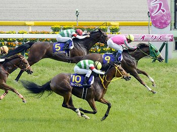 オークス馬ヌーヴォレコルトのタイムは2分25秒8。ハープスターはクビ差の2着だった。