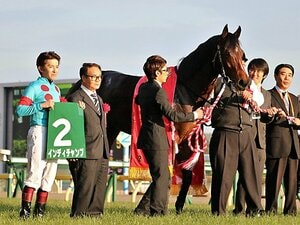 出遅れて、早めに先頭に立って完勝。東京新聞杯でマイル戦線に新星登場。
