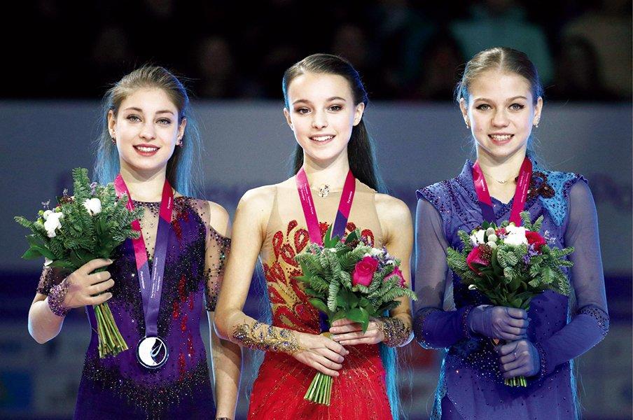 女子は4回転何本が最強か。ロシア3人娘が見せた新局面。<Number Web> photograph by KYODO