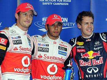 ハミルトンが韓国GPで6戦ぶり表彰台。なのに……笑顔が無かった理由とは?<Number Web> photograph by Hiroshi Kaneko
