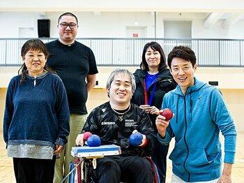 修造、感動!ボッチャ廣瀬隆喜は審判の母、チームと共に戦い続ける。<Number Web> photograph by Yuki Suenaga