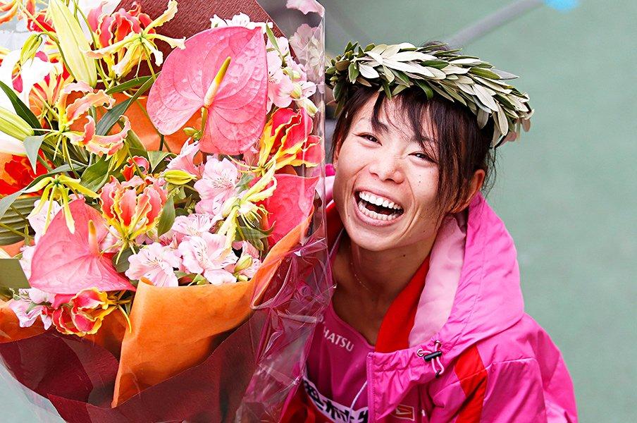 女子マラソンの3人目。~名古屋の方が大阪よりも有利?~<Number Web> photograph by AFLO