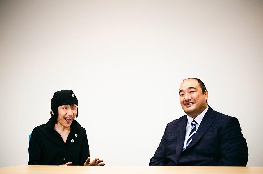 甲本ヒロト×元安美錦関の超対談。音楽界と角界「理想の引退」の形とは。<Number Web> photograph by Tadashi Shirasawa