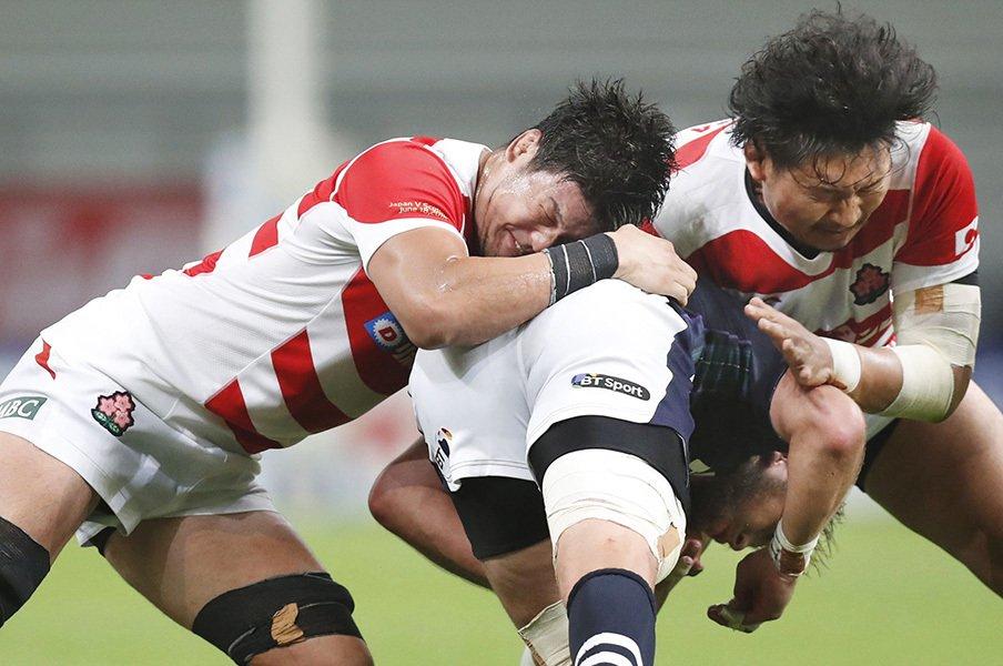 ラグビーW杯後、ジャパンの第一歩。スコットランドに敗戦も光明あり。<Number Web> photograph by Kyodo News
