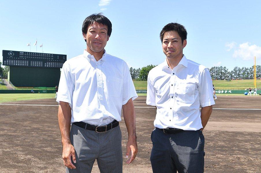 野球と生きる――。多田野と榎下がファイターズで歩む第二の人生。<Number Web> photograph by Hokkaido Nippon-Ham Fighters