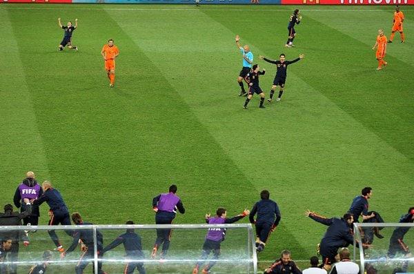 スペイン、勝利の瞬間
