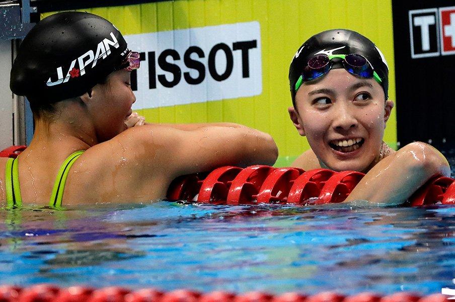 大橋悠依と恩師・平井伯昌の不在。メドレー2冠ならずも輝いた泳ぎ。<Number Web> photograph by AFLO