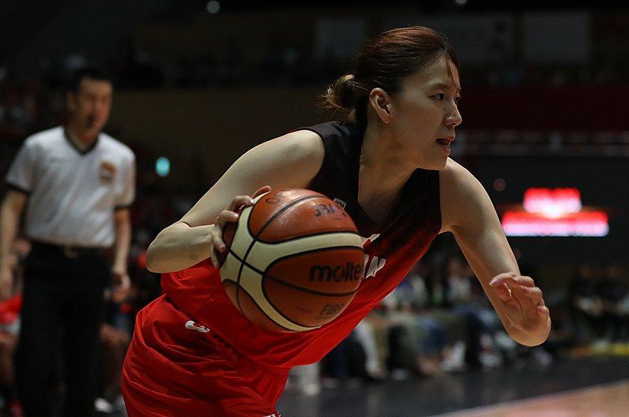 女子バスケ代表に本川紗奈生が復帰。頼もしきドライブクイーンの執念。<Number Web> photograph by Getty Images