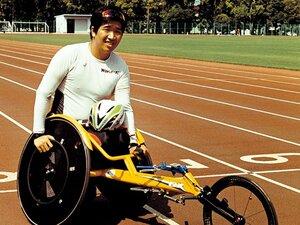 車いす陸上界のエース・佐藤友祈。「東京で金メダルを手にできれば」