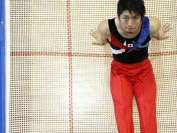 トランポリン男子個人、上山容弘が世界3位に。<Number Web> photograph by Tamon Matsuzono