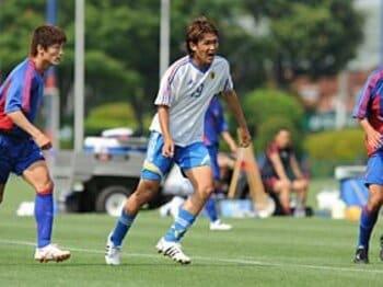 最年少記録を次々更新しているG大阪の宇佐美貴史。練習試合でも中心選手として活躍した