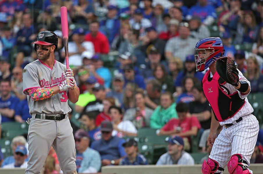 0打数7出塁とカブスの驀進。成功した「ハーパーを歩かせろ」。<Number Web> photograph by Getty Images