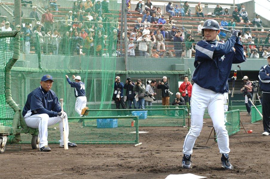 2006年のイチローと清原 / photograph by Takashi Shimizu