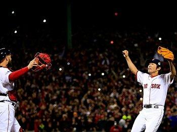 上原浩治の制球力。~MLBで図抜けた「K/BB」「WHIP」~<Number Web> photograph by Jamie Squire/Getty Images