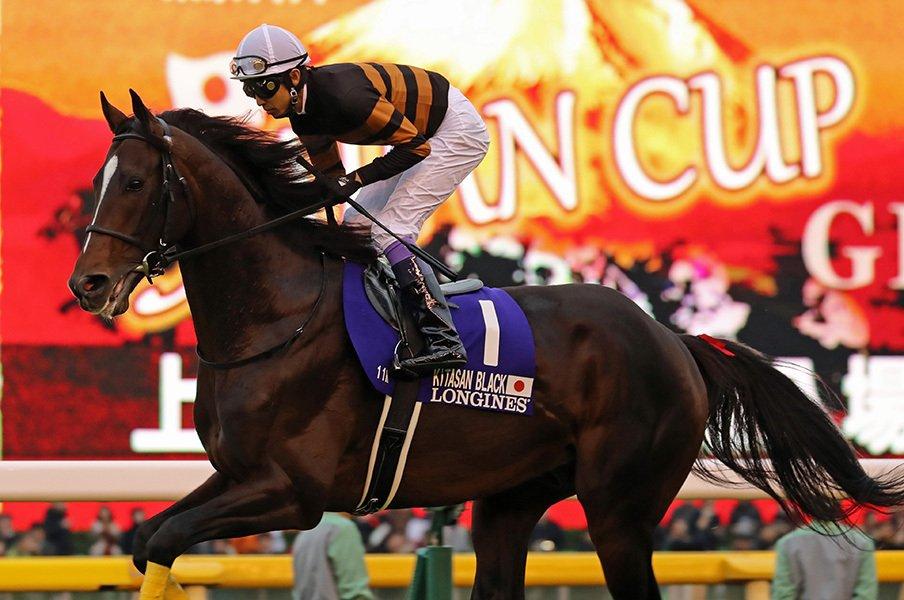 キタサンブラックが年度代表馬に!ディープ以来の「客を呼べる馬」。<Number Web> photograph by Yuji Takahashi