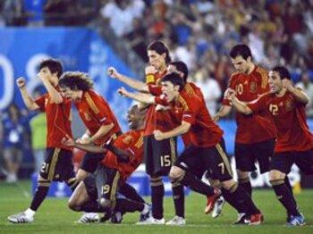 """スペイン、88年ぶりの""""勝利""""。<Number Web> photograph by Takuya Sugiyama"""