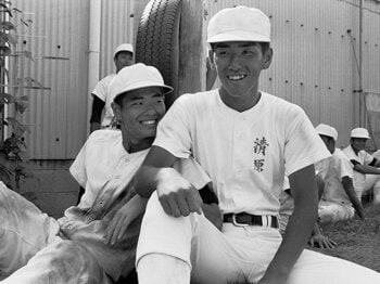 1984年7月、当時2年生だったKK。PL球場で行っていた練習の合間のひとコマ。