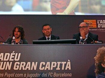 """2人の偉大な""""カピタン""""が退団。バルサが遂に認めた「1つの終わり」。<Number Web> photograph by FC Barcelona via Getty Images"""