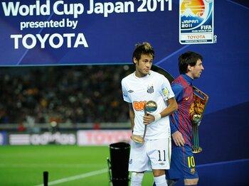 欧州王者バルサが開始5分で見せた、南米王者サントスとの歴然たる差。<Number Web> photograph by Takuya Sugiyama