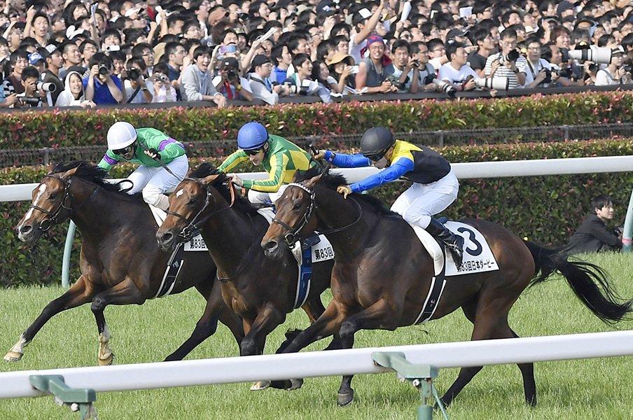 マカヒキは「強い馬ほどよく眠る」!?ダービーの朝も眠そうな大物ぶり。<Number Web> photograph by Kyodo News