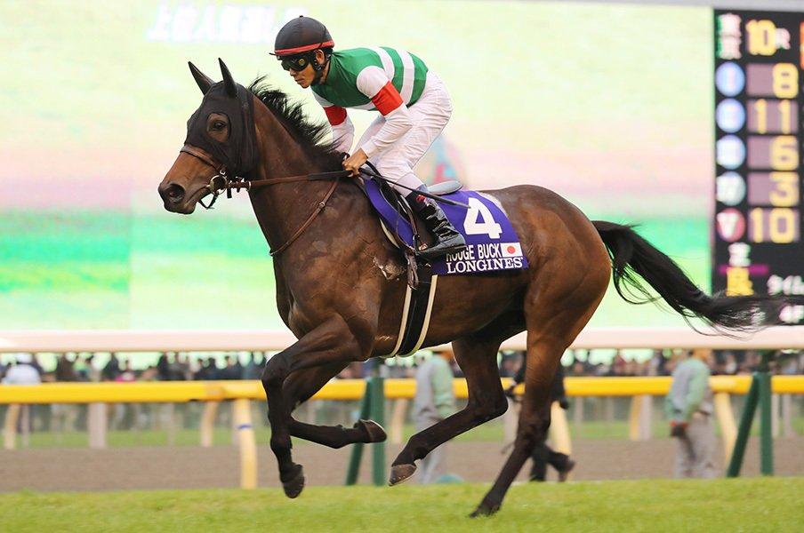 ヴィクトリアマイルはルージュに◎。元世代No.1馬と気鋭調教師のコンビ。<Number Web> photograph by Yuji Takahashi