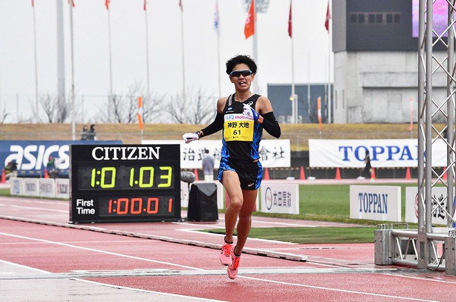 神野大地はマラソンでも神なのか。五輪代表3人に勝利した異常な粘り。<Number Web> photograph by EKIDEN NEWS