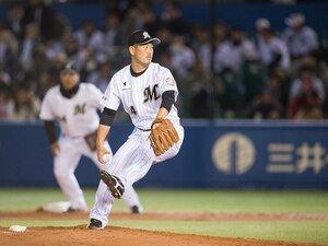 ロッテ投手陣で最多登板の33歳。大谷智久の憧れは先輩・小宮山悟。