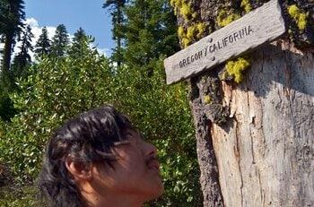 下痢と腹痛に悩まされながら、自らの足でオレゴンへ辿り着く。<Number Web> photograph by Yusuke Ide