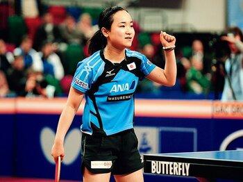 心臓に毛が生えた14歳、伊藤美誠が生きた「時間」。~卓球少女から感じる融通無碍~<Number Web> photograph by AFLO