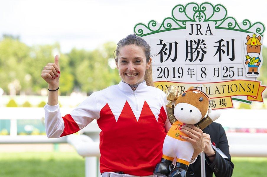 藤田菜七子より騒がれた女性騎手。WASJでミカエル・ミシェルが3位に!<Number Web> photograph by Junji Fukuda