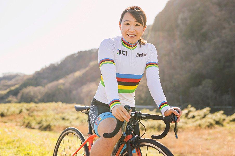 梶原悠未が目指す自転車の世界一。2021年、東京で笑顔の金メダルを。<Number Web> photograph by Kiichi Matsumoto