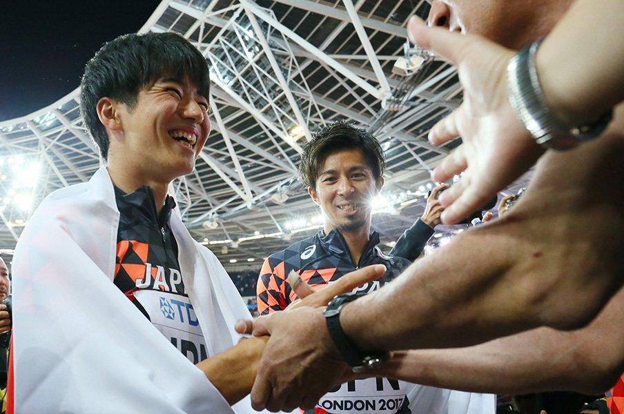 夢の実現を3年繰り上げた多田修平。走りまくって世界のメダリストに。<Number Web> photograph by AFLO