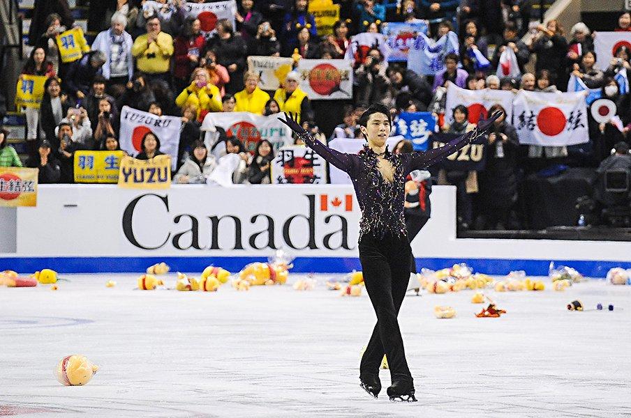 「まるで神業」スケートカナダ圧勝。羽生結弦自身は「まだ完成度30%」。<Number Web> photograph by Derek Leung -ISU/Getty Images