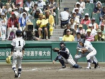 """""""超スローカーブ""""をもう一球。東海大四・西嶋亮太の才能と努力。<Number Web> photograph by Kyodo News"""